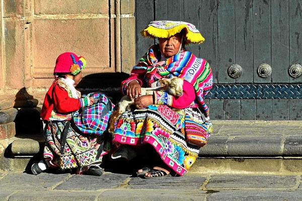 """Ihr """"job"""" ist es, sich von Touristen fotografieren zu lassen."""