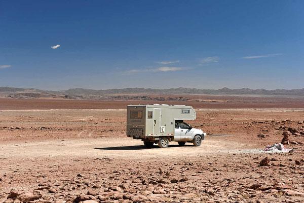 Mittagsrast in der Wüste.