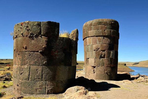 Die Begräbnis-Türme der Inca sind (wieder mal) perfekt gemauert.
