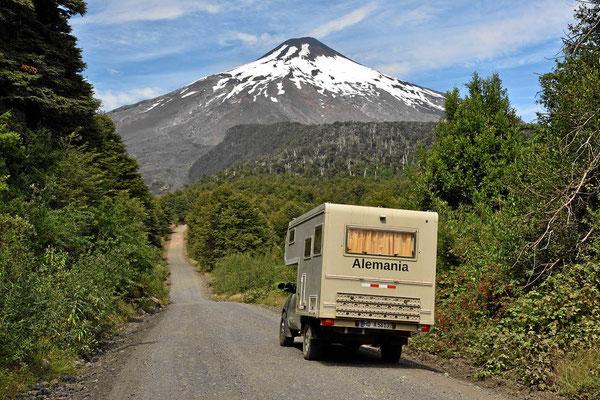 Auf dem Weg zum Vulkan Villarrica.