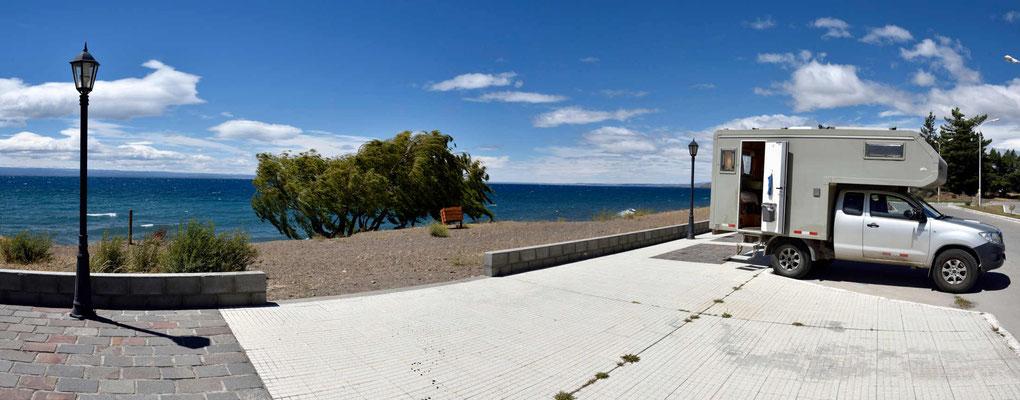 Mittagspause am Lago Buenos Aires (der Name des Lago General Carrera auf der argentinischen Seite.