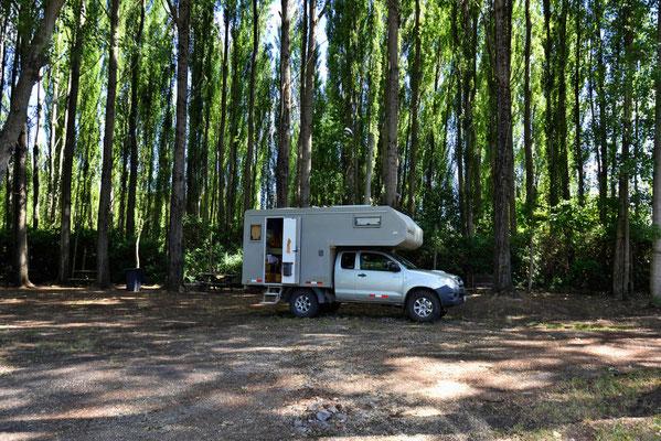 Der Campingplatz bei der Brauerei.