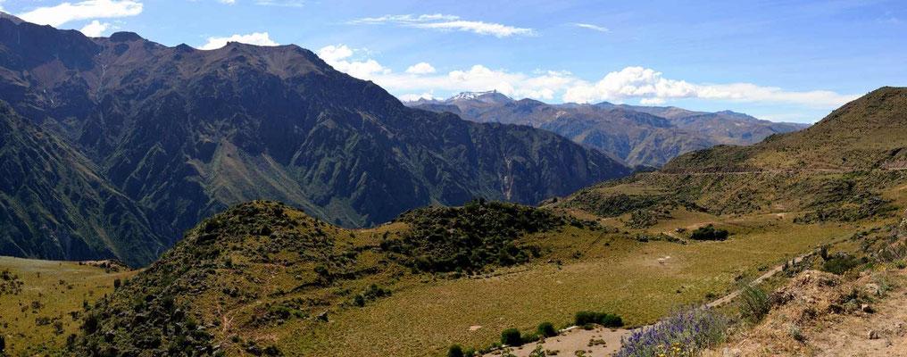 Fahrt nach Arequipa entlang des Colca-Canyons.
