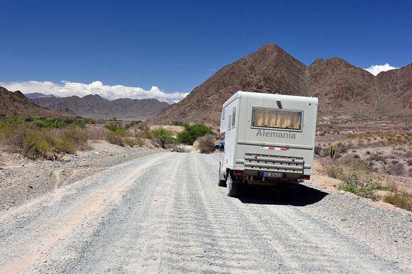 Weiterfahrt durch das Valles Calchaquies.