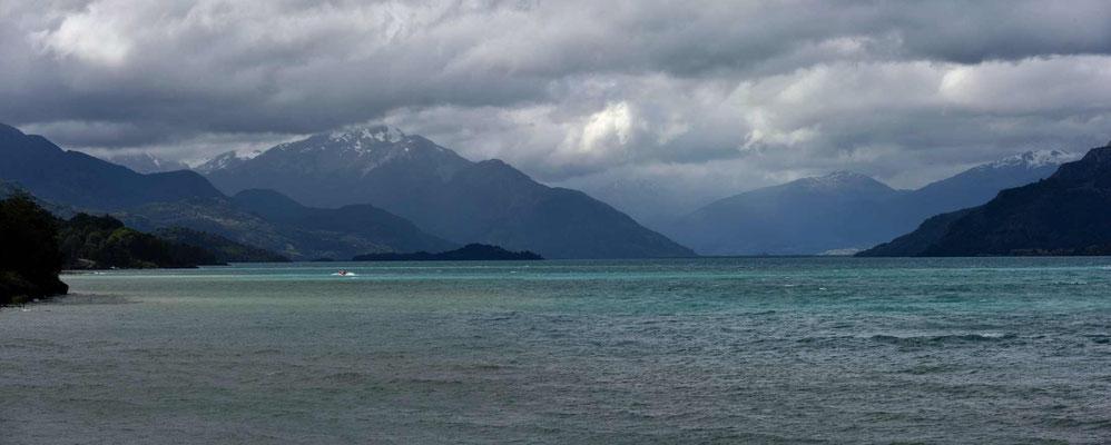 Schlechtes Wetter über den Anden .
