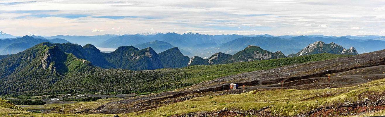 Von der Skistation am Vulkan hat man eine tolle Fernsicht über die Anden.