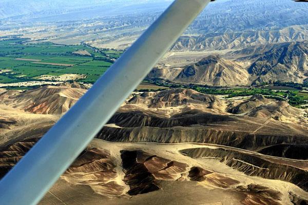 Die Flussoase von Nazca.