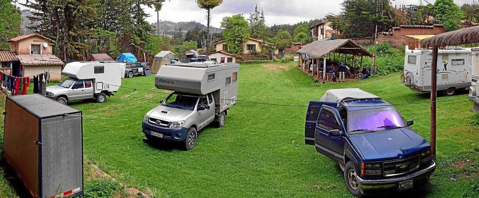 Der Campingplatz ist am Ende meines Cuscoaufenthalts schon recht voll.