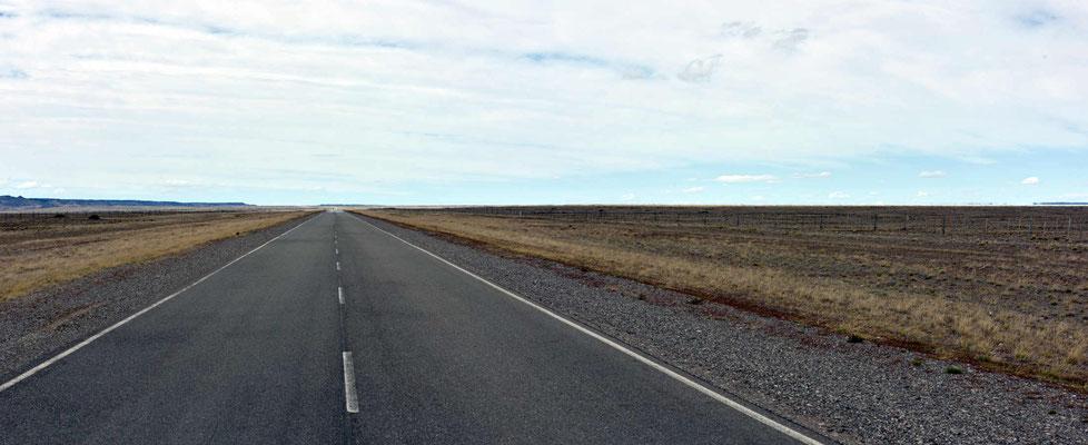 So der typische Pampablick auf der Route gen Süden.