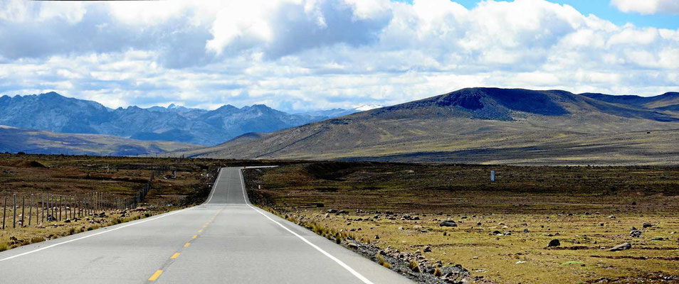Unendliche Weiten auf dem Altiplano auf > 4000 m.