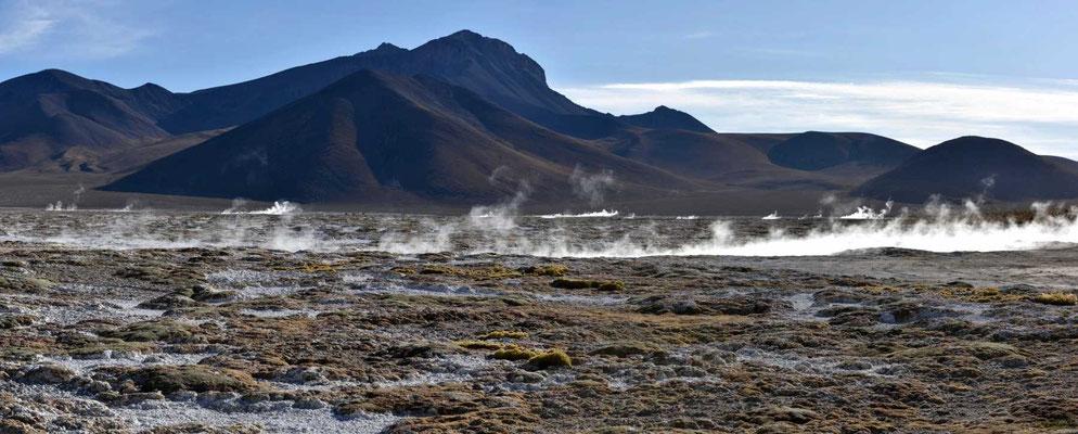 Eine dampfende Landschaft.