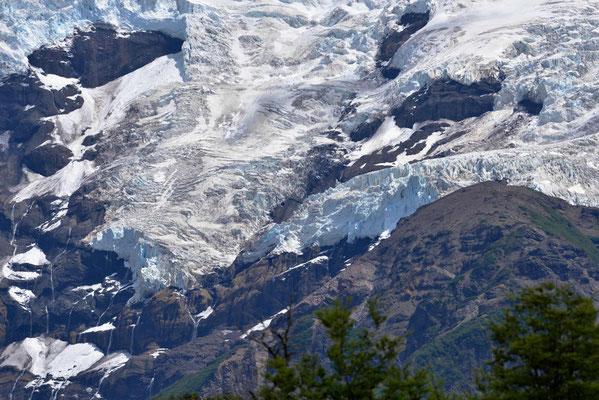 Die Gletscher am donnernden Berg.