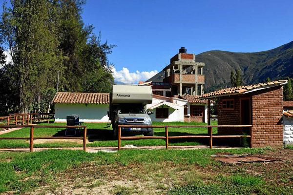 Unser Campingplatz in Caraz, eine blitzsaubere Anlage.