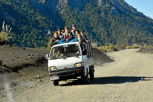 Personentransport auf chilenisch.