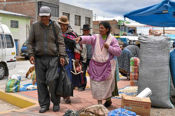 Markt am Titicacasee.