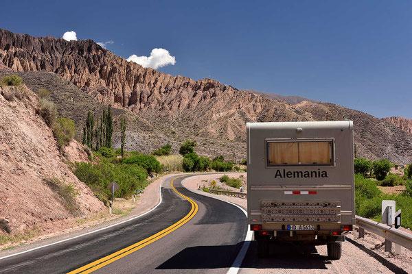 Zurück nach Tilcara durch das Tal de Humahuacada, ich will tanken.