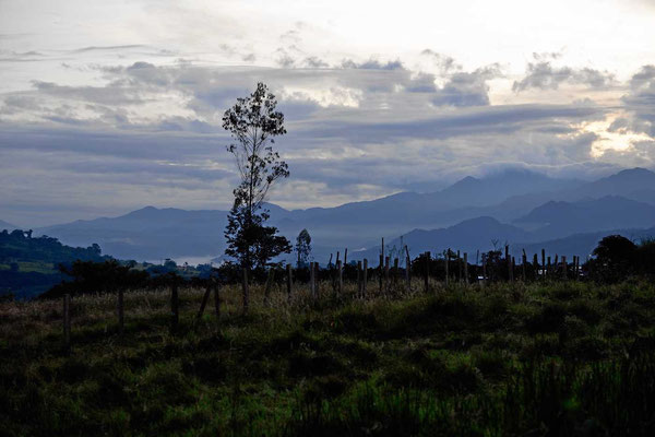 Auch morgens laufen wir nochmal hinunter. Jetzt habe ich zumindest die Möglichkeit, die schöne Landschaft mal im Morgenschein zu fotografieren.