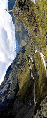Und dann geht es wieder zurück über die Cordillera Blanca zur Nationalstraße 3N.