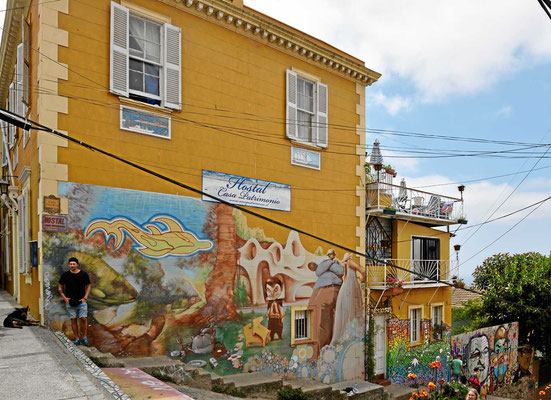 In der Altstadt von Valparaiso.
