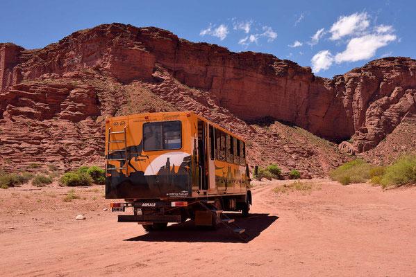 Unser Tourfahrzeug durch den großen Canyon.