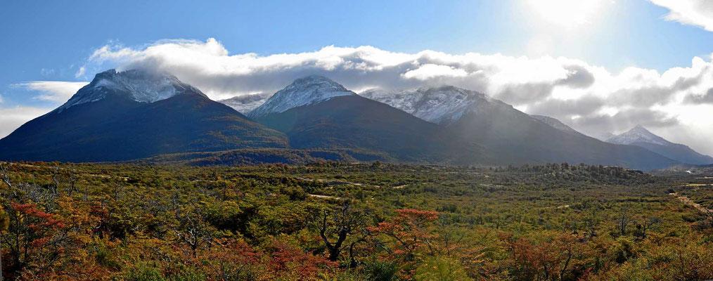 Herbstlandschaft auf dem Weg nach Puerto Natales.