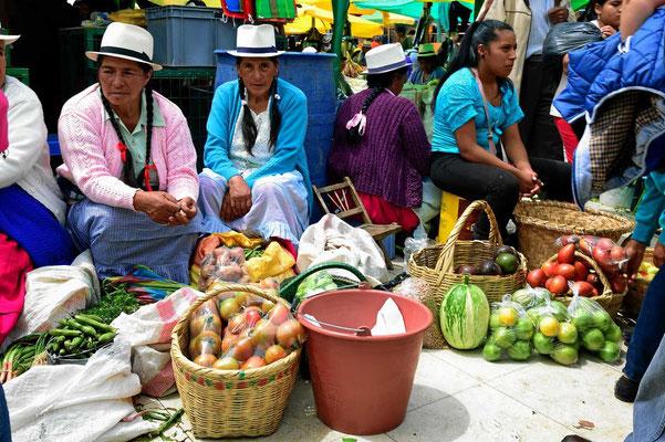 Der Obst- und Gemüsemarkt von Gualaceoa