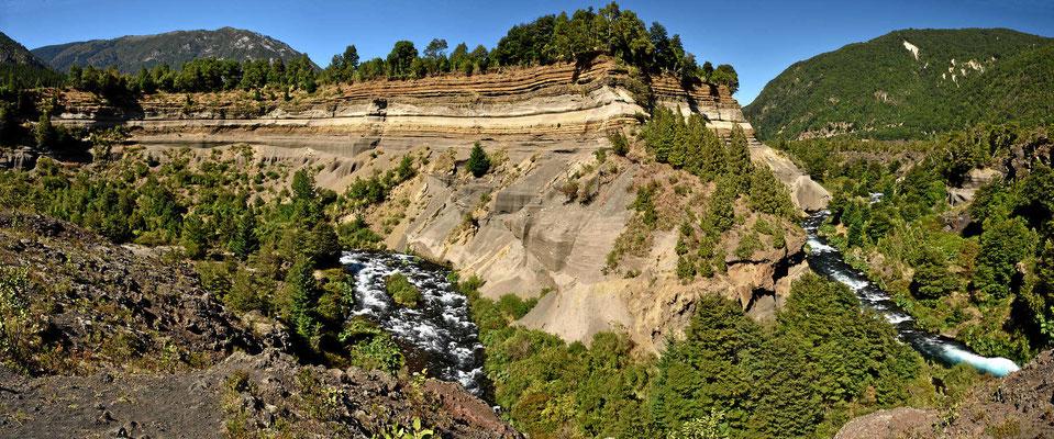 Die Cascades Trufel Trufel, das Abbild der Vulkanausbrüche der letzten 15 000 Jahre.