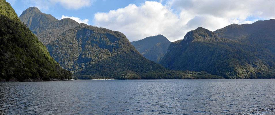 Blick auf die Berge des Pumalinparks.