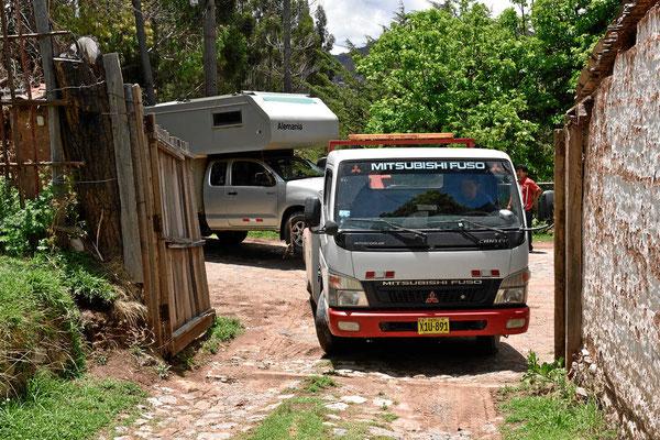 EInfahrt auf den Campingplatz
