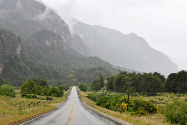 Die Carretera Austral im Regen.