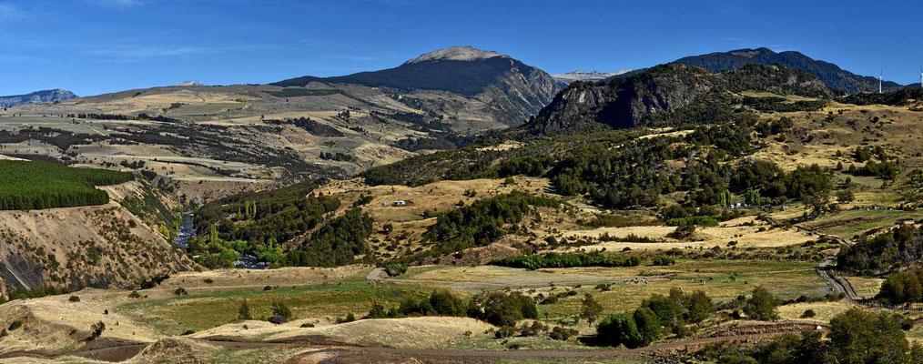 Steppenlandschaft bei Coyhaique.