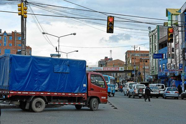 Müllentsorgung a la La Paz.