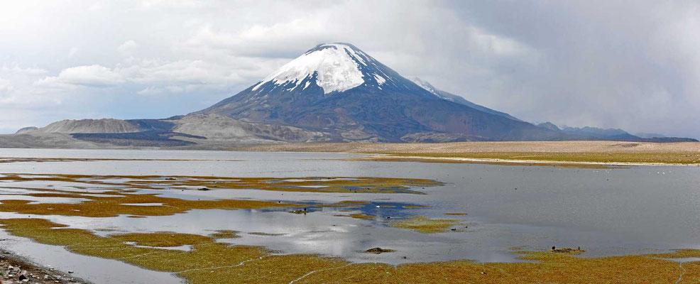 Der Vulkan Paricanota in seiner Regelmäßigkeit.
