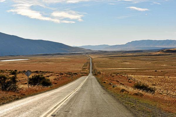 Fahrt zum Nationalpark Torres del Paine.