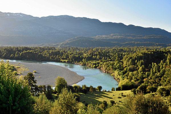 Es ist eine total unbewohnte Landschaft, aber natürlich ist alles eingezäunt, es ist Privatland.