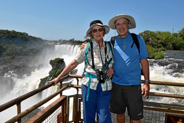 Selfie vor den Iguazu-Fällen.