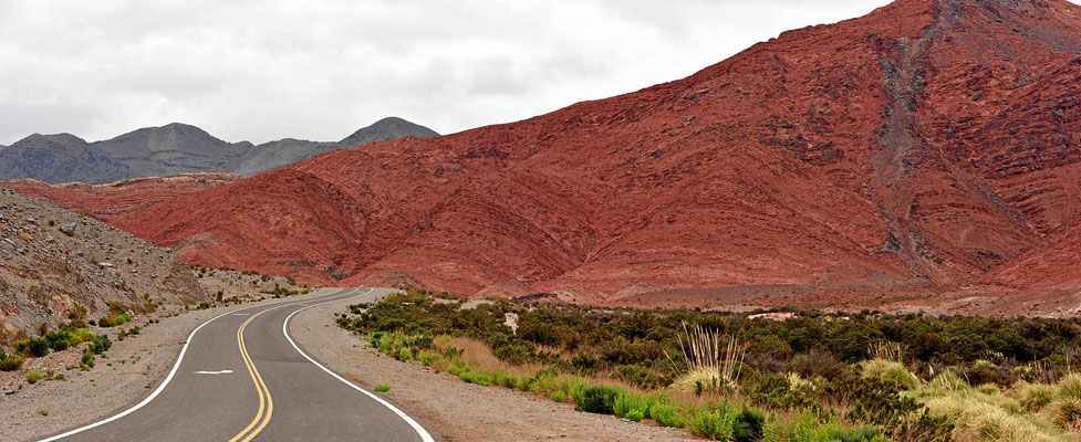 Landschaft in rot.