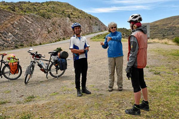 Ein deutsches Fahrradpärchen auf dem Weg nach La Paz.