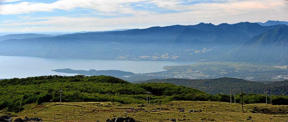 Ein Teil des Sees Villarrica.