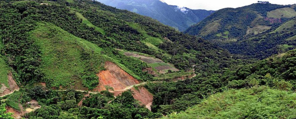 Das zentrale Hochland dicht an der Grenze zu Peru.