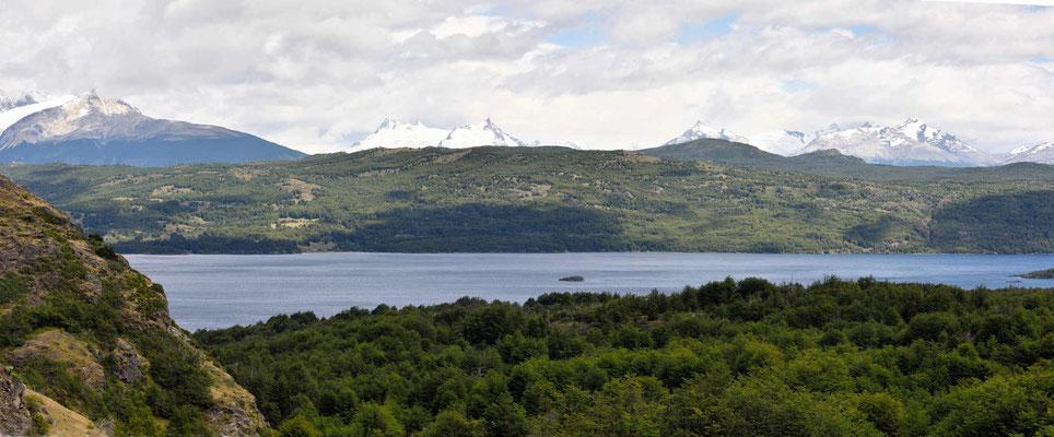 Seen und Gletscher an der Carretera Austral.