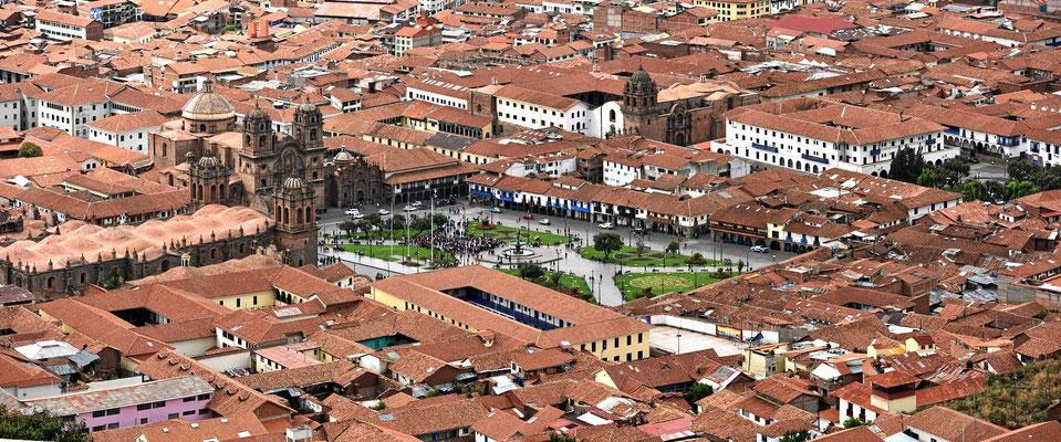 Die Plaza del Armas in der Altstadt von Cusco.
