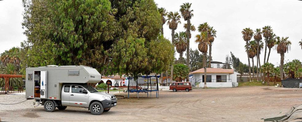 Unser Übernachtungsplatz in Arica.