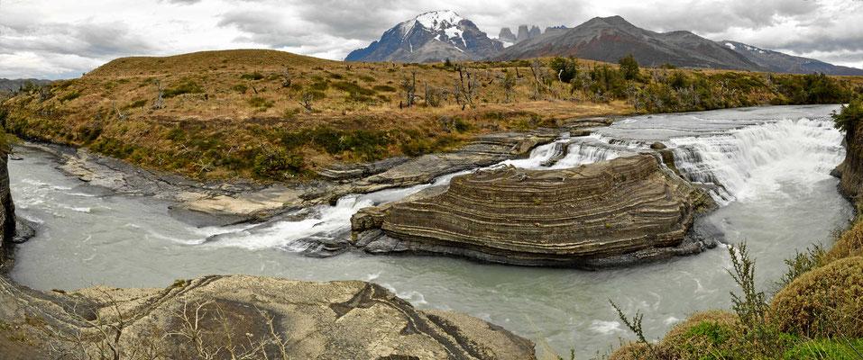 Eine 180° Ansicht der Wasserfälle.