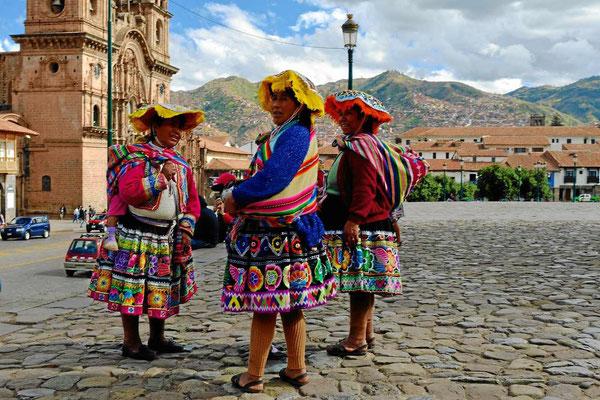 Die Indios von Cusco, fertig zu fotografiert werden.