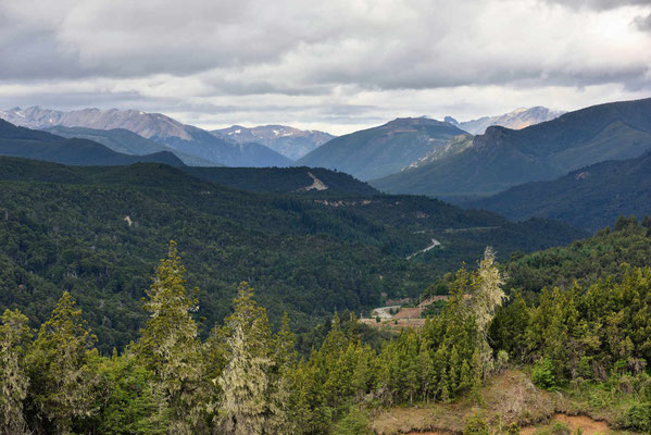 Blick über den Nationalpark Nahuel Huapi.