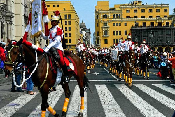 Die Wachablösung in Lima.