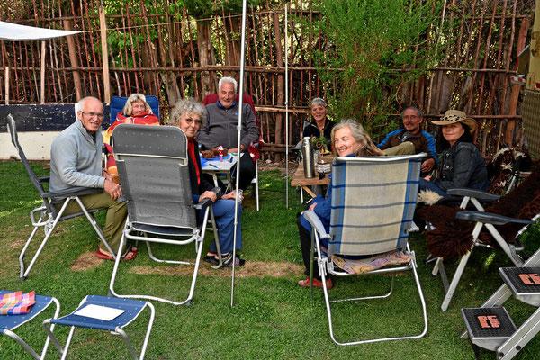 Großes Treffen aller Womofahrer vom Campingplatz.