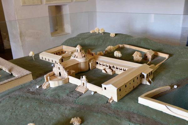 Modell der Estancia, so sieht sie auch heute noch aus.