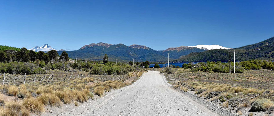 Fahrt durch das Reserva Nacional Lago Galletue.